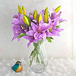 cheap -1 Branch Others Lilies Tabletop Flower Artificial Flowers