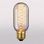 T45 E27 40W Incandescent Light Bulbs Antique Vintage Retro Edison Light Bulbs(220-240V)