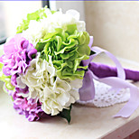 Недорогие -1 Филиал Полиэстер Пластик Гортензии Букеты на стол Искусственные Цветы
