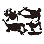 Skateboard Wall Stickers Sport Wall Stickers Vinyl Removable Decals Boys Stickers Home Decor