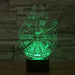 Millennium Falcon 3D LED Night Light 7Colorful Decoration Atmosphere Lamp Novelty Lighting Christmas Light