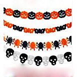 Недорогие -бумажная цепь гирлянда украшения форма тыквы битой призрак паука череп Хэллоуин декора гирлянда
