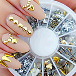 cheap -Silver Gold Mixed Nail Polish Manicure DIY Accessories Fossa Rivet Metal Patch