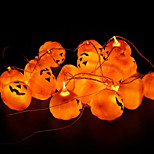 Недорогие -16шт / комплект Хэллоуин тыква реквизит украшение украшения тыквы лампа Хэллоуин строка тыквы свет сумасшедший партии