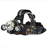 cheap -1000LM 3x T6 White 2R2 UV LED Headlamp Head Light Torch Charger Bare machine