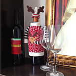 Christmas Deer Elk Style Red Wine Champagne Bottle Covers Bag For New Year Christmas Decorations Ornament