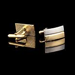 Запонки 1 пара,Однотонный Золотой Мода / Подарочные коробки и сумки Запонка Мужской Бижутерия