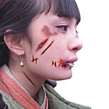 5pcs Halloween Zombie Scars Tattoos With Fake Scab Blood Special Fx Costume Makeup