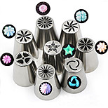 cheap -8pcs Russian Nozzles Stainless Steel Russia Piping Tips Cake Baking Wedding Cake Decorating Tools