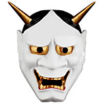 cheap -Tokyo Ghoul Japanese Horror Scary Ghost Prajna Hannya Ghost Mask Halloween Masquerade Cosplay Mask Party Costume Prop