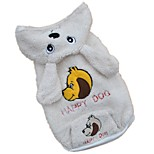Dog Costume Hoodie Dog Clothes Cute Cosplay Animal White Costume For Pets