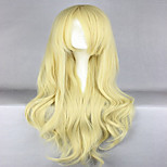 Anime  Promotion Touhou Project Kirisame Marisa 80cm Long Wavy Blonde  Cosplay Wigs