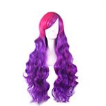 Peruca Purple Pelucas Pelo Natural Hair Ombre Wig Perruque Women Synthetic Wigs Long Wig Pelucas Sinteticas