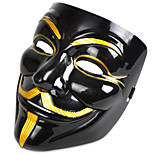 cheap -Cosplay Mask V For Vendetta Mask Anonymous Movie Guy Fawkes Halloween Masquerade Cosplay Mask Party Costume Prop