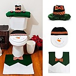 cheap -1 Sets Happy Snowman Christmas Bathroom Set Toilet Seat Cover Rug Xmas Decoration Year Adornos De Navidad Promotions