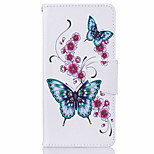 cheap -for Huawei P9 P9 Lite Butterfly Pattern Leather PU Leather Material Leather Phone Case for Huawei P9 P9 Lite Y5II Y6II 5A