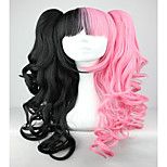 Pink And Black 70cm Classical Anime Wavy Braided Lolita Cosplay Wigs