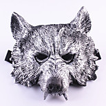 cheap -Halloween Creepy Rubber Animal Werewolf Wolf Head Mask Head Halloween Masquerade Cosplay Mask Party Costume Prop