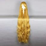 жен. Парики из искусственных волос Без шапочки-основы Очень длинный Волнистые Желтый Парики для косплей Парик для Хэллоуина Карнавальный