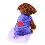 Собака Платья Одежда для собак Для вечеринки День рождения На каждый день Свадьба Мода Принцесса Лиловый Розовый