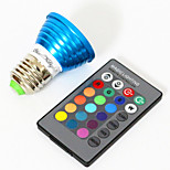 cheap -YouOKLight 3W 200-250lm E26 / E27 LED Spotlight MR16 1 LED Beads High Power LED Decorative RGB 85-265V
