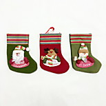 cheap -High Quality S Size Textile Christmas Stocking Holiday Ornaments