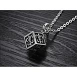 Муж. Ожерелья с подвесками Бижутерия Титановая сталь По заказу покупателя Бижутерия Назначение Для вечеринок