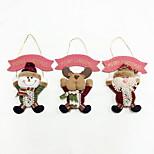 Недорогие -1pc Санта-Клаус рождественский снеговик лося высокого качества рождественский орнамент