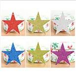 cheap -6Pcs/set Christmas Tree Decorative Stars Ornaments Christmas Decorations Paper Glitter Sequins Christmas Star Pentagram Pendant10Cm