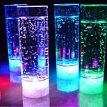 cheap -1PC 400ML 7 Changing Colors LED Drink Cup Night Light LED Flashing Juice Light for KTV Party Bar Flameless Lights Cup