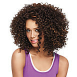 Short Afro Kinky Bob Synthetic Wig for Women Mix Brown Golden Heat Resistant Cheap Cosplay Wigs Hair