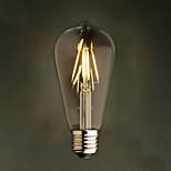 âmbar 2w edison estilo 2200k st64 cerâmico levou lâmpada de filamento e27