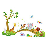 cheap -Animals Wall Stickers Plane Wall Stickers Decorative Wall Stickers Height Stickers Home Decoration Wall Decal Wall