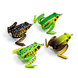 1 pcs Soft Bait Fishing Lures Frog Brown Green Yellow Coffee Random Colors g/Ounce mm/2-1/8