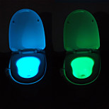 YouOKLight Motion Activated Sensor Toilet Night Light, 8 color-cycle, Pee Happy
