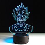 1шт семь Dragon Ball красочные видения стерео светодиодные лампы 3d лампа свет красочный градиент акриловую лампа ночного видения света