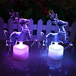 cheap -1Pcs Reindeer Night Light Can Transformation Many Color