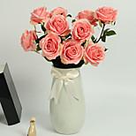 Недорогие -1 Филиал Полиэстер Полиуретан Розы Букеты на стол Искусственные Цветы
