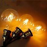 abordables -Decorativa Bombillas Globo , E26/E27 2 W LED Integrado LM Blanco Cálido / Amarillo V