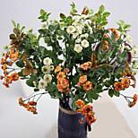 Недорогие -1 Филиал Полиэстер Пластик Другое Букеты на стол Искусственные Цветы