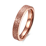 Муж. Жен. Классические кольца Бижутерия Базовый дизайн Мода Титановая сталь Круглый Бижутерия Назначение Для вечеринок Обручение