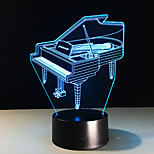 cheap -1 pc 3D Nightlight Color-Changing Compact Size Artistic Other Modern/Contemporary