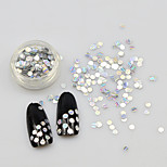 cheap -1g/bottle Silver Laser Flat Round New 3d Nail Art Decorations 2017 Glitter Crystal Rhinestone 2mm 3mm Mini Nail Beauty Tool TW