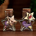 cheap -Five-star Bottle Sample Jars with Cork Stopper Message Vials Weddings Flash Wish Bottle Kids Children gifts