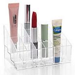 cheap -Bathroom GadgetAcrylic Makeup Storage Acrylic Transparent 24 Lattice 14.5*9.5*7.5 Cosmetics Storage Toilet Plastic Multi-function