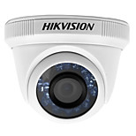 HIKVISION® DS-2CE56C0T-IR HD720P Indoor IR Turret Camera (IP66 Waterproof Analog HD Output True Day/Night DNR Smart IR 20m IR 1MP CMOS Image Sensor)