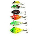 6 pcs Hard Bait Others Fishing Lures Frog Assorted Colors g/Ounce,40 mm/1-5/8