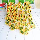 cheap -1 Branch Polyester Sunflowers Wall Flower Artificial Flowers