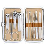 12-en-1 portátil de acero inoxidable de la manicura de las uñas&Kit de pedicura con cortaúñas y ceja y herramientas para los oídos