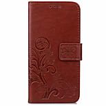 Недорогие -Кейс для Назначение Nokia Lumia 640 Lumia 535 Кошелек Бумажник для карт со стендом Флип Чехол Сплошной цвет Твердый Искусственная кожа для